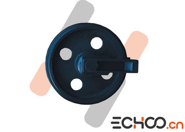 R55 -9 Front Idler Wheel Mini Excavator Undercarriage Parts In Black Color